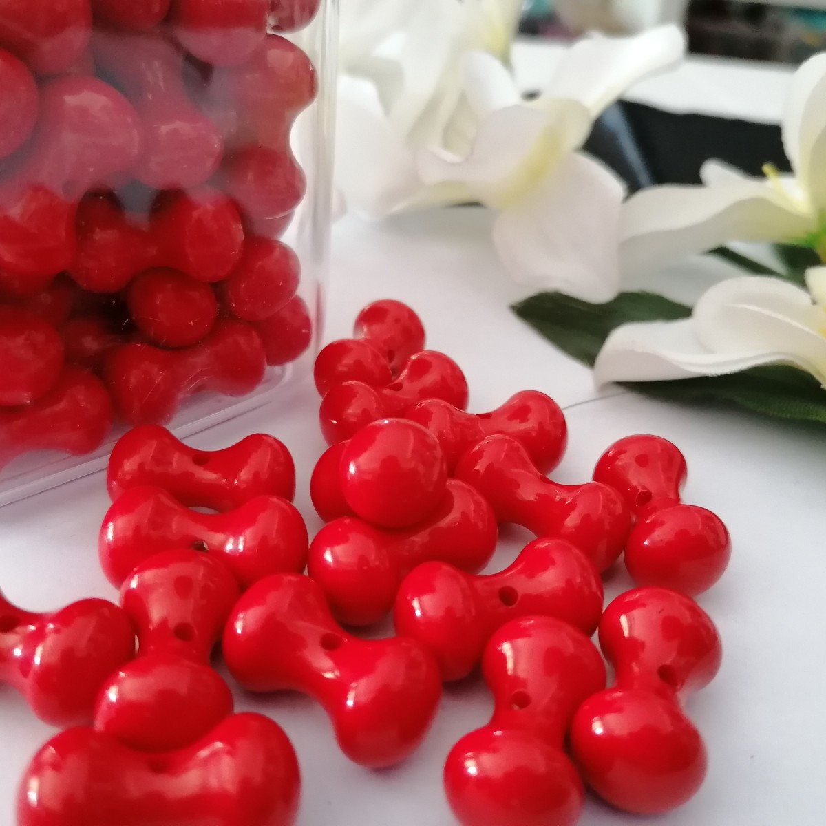 Plastic Bone Shaped Beads Rvm Seamaf